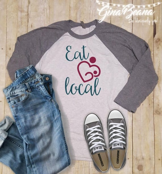 Eat Local Shirt Supporting Breastfeeding