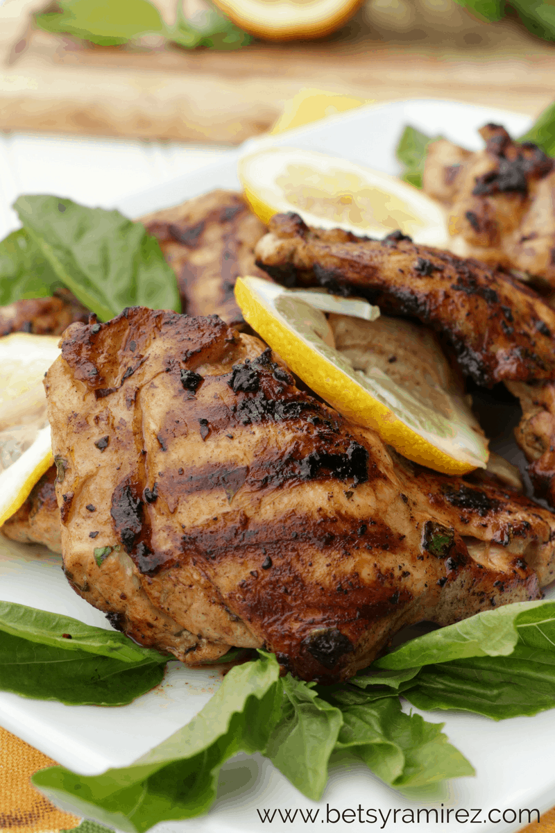 Lemon basil chicken on a plate
