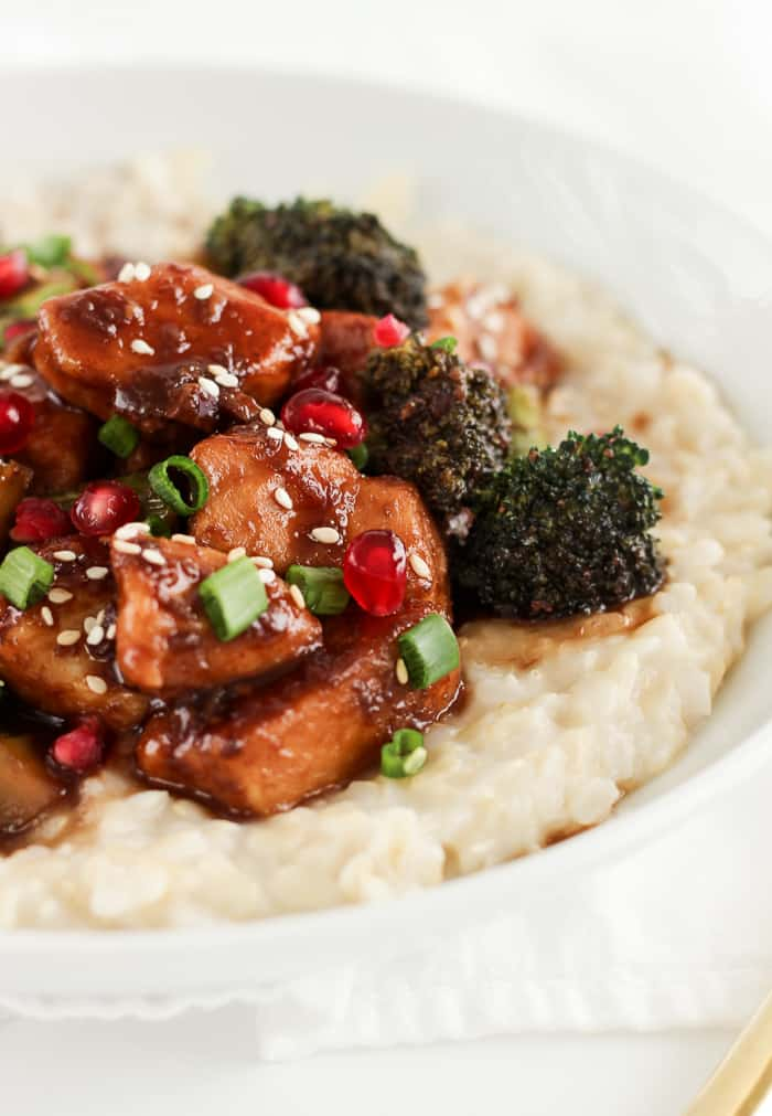 Sticky pomegranate chicken