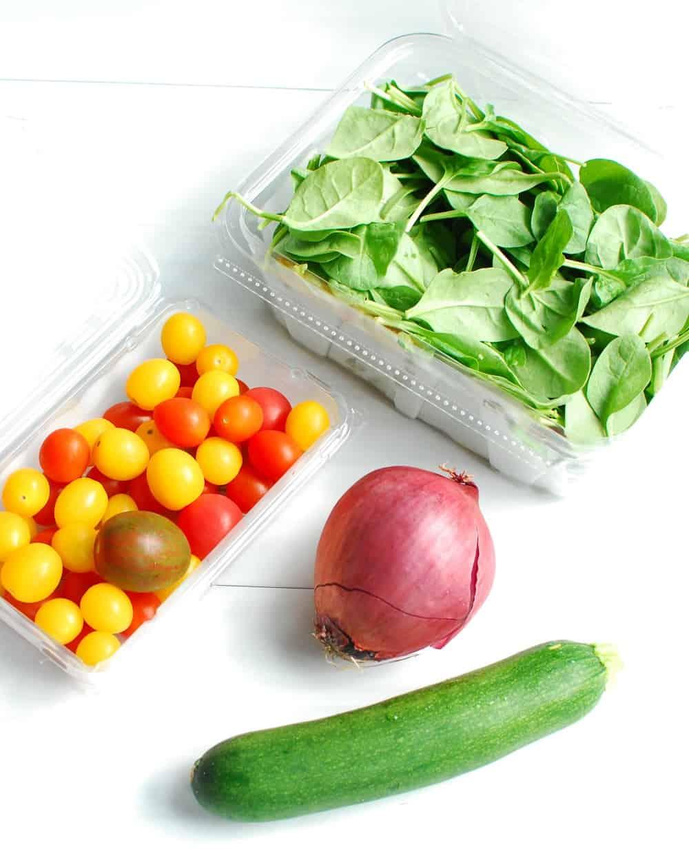 A variety of garden vegetables
