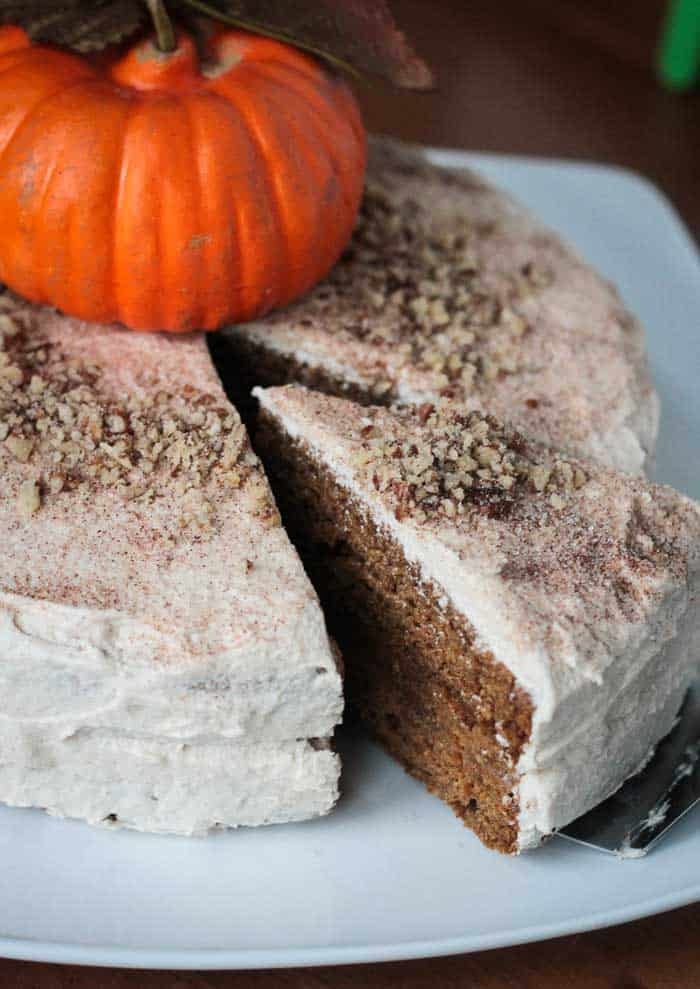 Vegan pumpkin layer cake