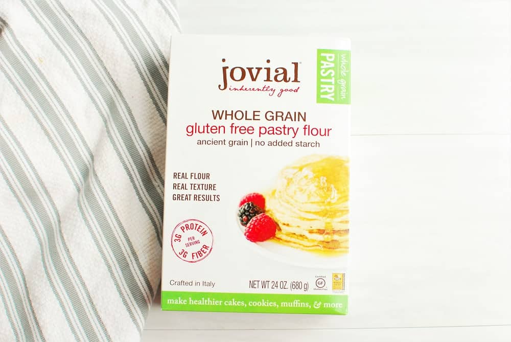 A box of Jovial gluten free pastry flour