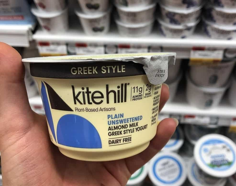 Kite hill greek style dairy free yogurt