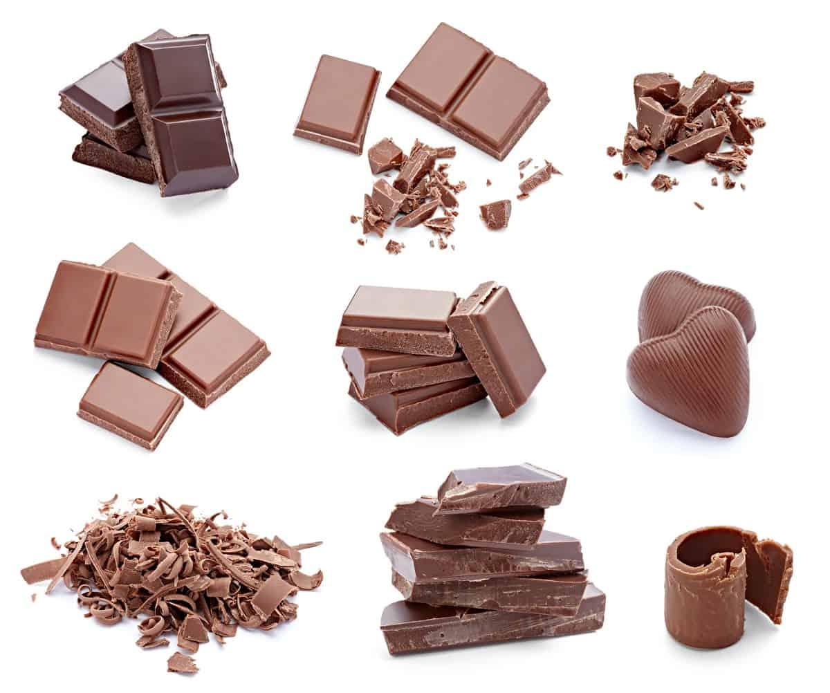 several varieties of nut free chocolate